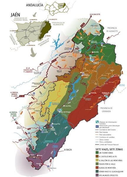 mapa parque natural