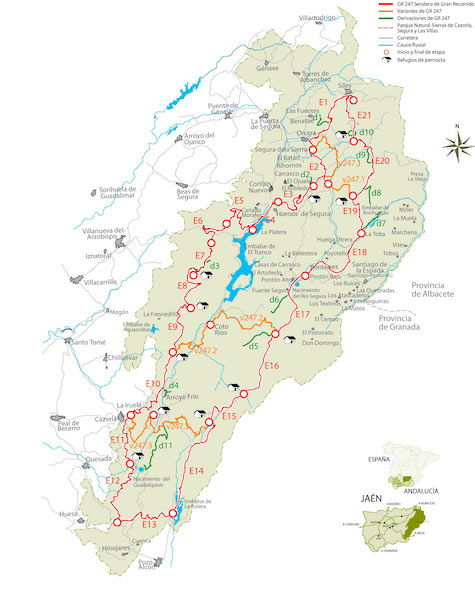 Rutas de Senderismo Etapas Bosques GR247